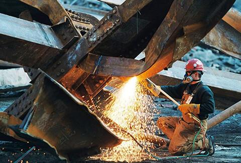 демонтаж газовой резкой конструкций из металла